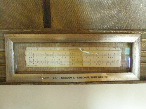 Nevil Shute's slide rule