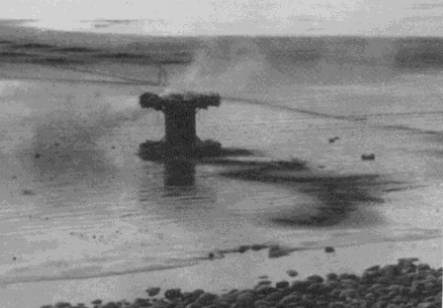 The Grand Panjandrum in its death throes in January 1944. (Photo: TSW/DH)